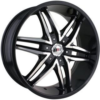 20x8 5 Black MPW MP208 Wheels 5x5 6x5 35 Dodge Durango Grand Caravan Journey