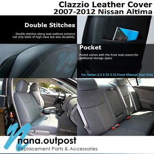 Clazzio Custom Perfect Fit Leather Seat Cover Tan for 07 12 Nissan Altima 4D