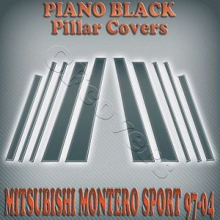 Mitsubishi Montero Sport 97 04 10pc Black Pillar Covers Scratch Resistant B C
