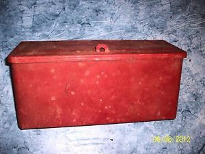 Vintage Ford Tractor 8N Red Fender Mounted Tool Box Look