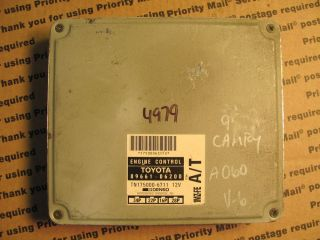 95 Toyota Camry 6CYL Le XLE ECU ECM Computer Part Number 89661 06200