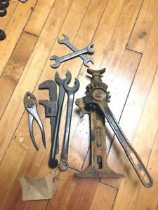 Ford Model T Tools Vintage Antique Auto Model T Tool Set Ford Script Jack Wrench