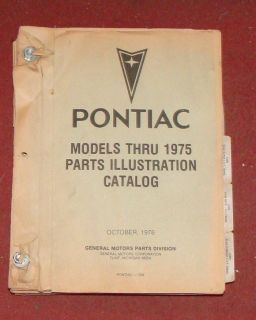 1966 1967 1968 1969 1970 1971 1972 Pontiac GTO Firebird Parts Book Stack F