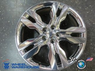 One 2011 13 Ford Edge Factory Chrome Clad 20 Wheel Rim 3847 Light Curb