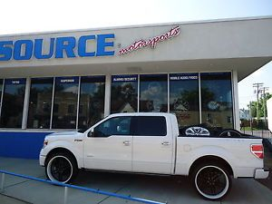 "26"" Dub Dirty Dog 2 Piece Wheels Custom White and Black 6x135 Ford F150 Lincoln"