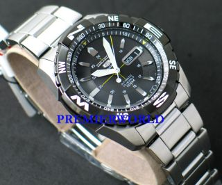 Seiko Automatic Black Bezel SNZJ07 Watch SNZJ07J1 Japan