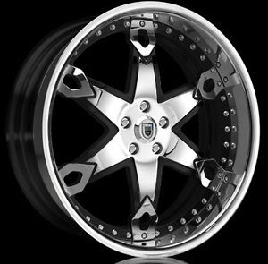 "22"" inch asanti AF 214 Wheels Black and Chrome BMW 645 650 745 750 One Time Deal"
