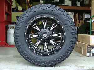"20"" Fuel Off Road Throttle Black Nitto Trail Grappler 35x12 50R20 35"" Mud Tires"
