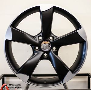 "18"" Audi RS3 Style Black 5x112 Wheel Fit VW Passat Phaeton Tiguan CC EOS TDI"