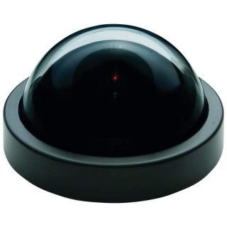 Large Mock Dummy Security Dome Camera Motion Active LED Light CCTV AA Batteries