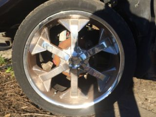 Cadillac Escalade 22 inch Chrome Wheels Rims Aftermarket 6 Spoke