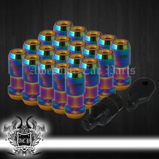 M12x1 25 Aluminum JDM VIP Extended Dust Cap Lug Nuts Wheel Rims Tuner Neo Chrome