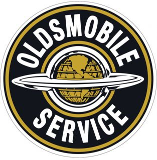 Vtg Style Oldsmobile Service Tin Metal Sign Garage Old School Hot Rod Rat Street