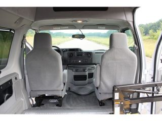 2012 Ford E 350 Handicap Accessible Wheelchair Van Raised Side Entry Braun Lift