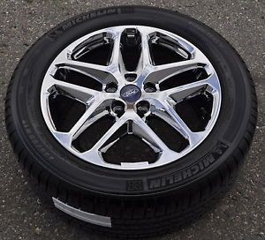 "2013 2014 Ford Fusion 17"" PVD Chrome Wheels Rims Tires"
