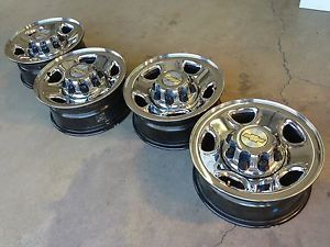 "16"" Chevrolet Chevy Silverado Duramax Factory Stock Chrome Wheels Rims 8x165"