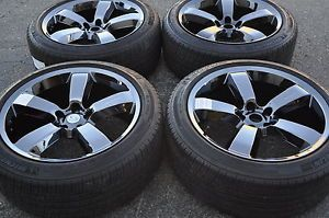 "20"" Dodge Charger Challenger SRT8 Black Chrome Wheels Rims Tires 2262"