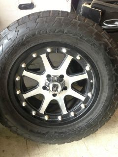 Jeep Machined XD Addict Wheels Tires Rims Nitto Set of 5 Jeep Wrangler