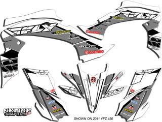Warrior 350 WARRIOR350 Yamaha Graphics Kit Deco Stickers ATV Decals Four Fly