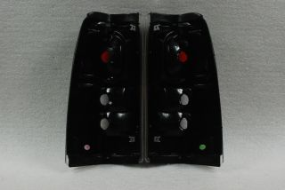 Black 99 02 Silverado 99 03 GMC Sierra altezza Tail Lights Lamps Left Right Pair
