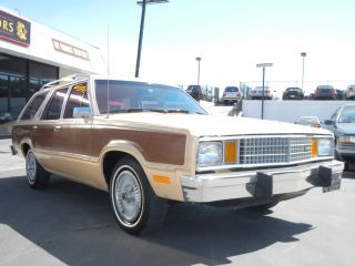 1 Owner 79 Ford Fairmont Squire Woody Station Wagon 40K Orig Miles Fox Body