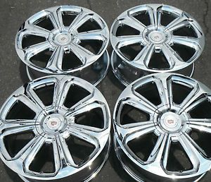 "20"" Cadillac SRX New Chrome Rims Wheels Factory GM Caps 2013 Outright 2014"