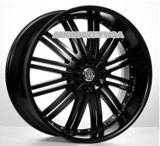 "22"" D1 VT BK Wheels and Tires Rims for Chevy Cadillac Ford RAM Toyota"