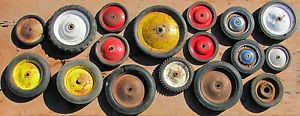 Vintage Toy Wagon Wheels Rubber Tires Pedal Car Truck Tractor Salvaged