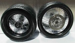 Harley Davidson FXS Blackline Chrome Spoke Wheels Set Rims 21 Front 16 Back Tire