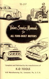 Valve Service Manual Ford Motors Hot Rod Vtg Old Style Book Engine V8