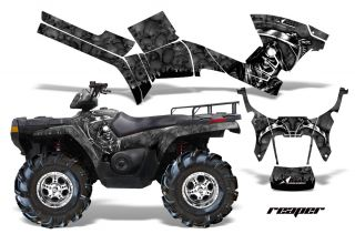 AMR Racing Graphic Kit Polaris Sportsman 800 500 Decal Wrap Parts 05 10 Reaper B