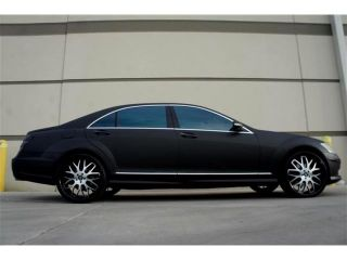 Custom Matte Black Mercedes S550 4MATIC Fully Loaded Designer Wheel One of Akind