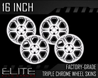 "2008 2012 Ford Focus 16"" Chrome Wheel Skin Covers"