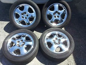 "Chrysler PT Cruiser Mopar Factory Stock 16"" Chrome Wheels Rims 5x100 Tires"
