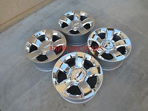 "Factory Chevy Silverado LTZ 20"" Chrome Wheels Rims"