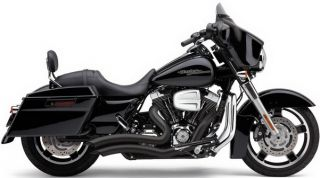 Cobra Exhaust Speedster Short Swept Black Harley Street Glide 2010 2012