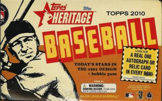 2010 Topps Heritage Baseball Hobby Box Factory SEALED