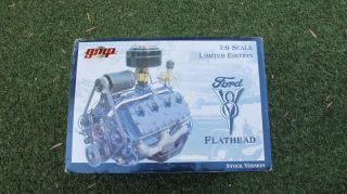 RARE New in Box Franklin Mint Ford Flathead V 8 Engine by GMP Never Opened 1 6