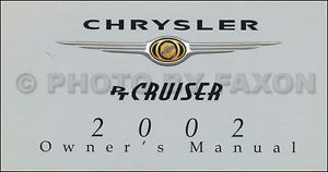 2002 Chrysler PT Cruiser Owners Manual New Original Touring Limited GT