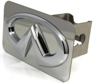 "Chrome Infiniti Logo Hitch Cover Plug 2"" Hitch Receiver Stainless Steel EX FX QX"