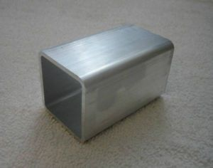 Aluminum 6061 Square Tube Bar Round Corners 2x2x1 8 Tow Trailer Hitch Cover Plug