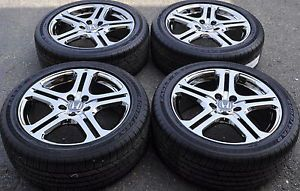 "Honda Accord 18"" Chrome Wheels Rims Tires Factory Stock Wheels 71735"