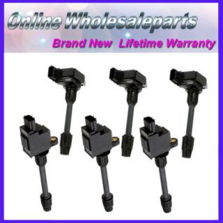 2000 2001 Set 6pcs Ignition Coils IC48 Nissan Maxima Infiniti I30 V6