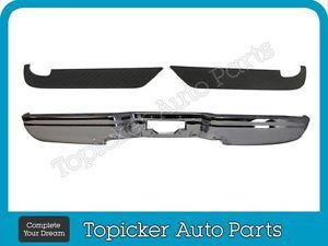 97 03 Ford F150 F250 Light Duty Styleside 04 Heritage Rear Bumper Chrome Pad 3pc