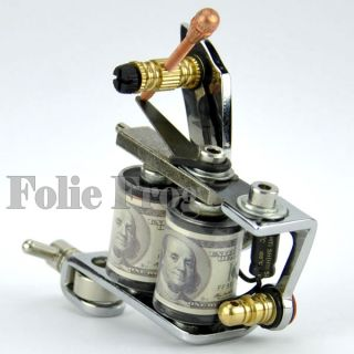 New Silver 8 Wraps Coils Carbon Steel Tattoo Machine Gun Shader Liner 1