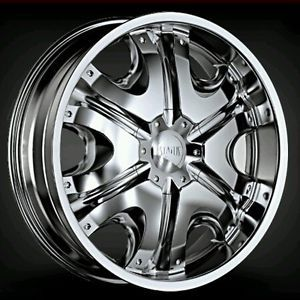 1 Status Wheels S807 Donk Chrome Wheel Center Cap