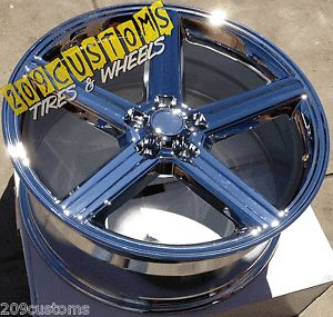 "22"" inch Chrome IROC Wheels Rims Tires 5x115 10 22x9 5 Crown Victoria 91 00"