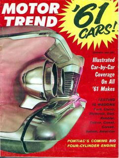 1960 Motor Trend Sep Station Wagons Corvair Facel Vega Ladawri Ford Thunderbird