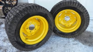 John Deere 425 445 455 Rear Rims and 23x10 50 12 Tires