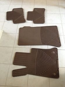 Nice Clean 2010 13 Mercedes GLK350 Almond Color WeatherTech Floor Mats